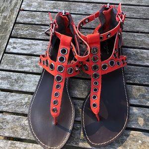 Red Halogen Sandals